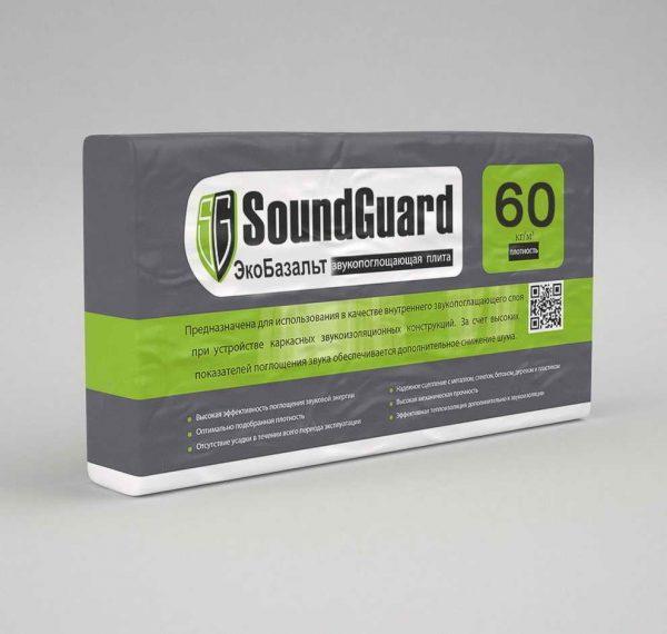 """ЭкоВата звукопоглощающая SoundGuard EcoBasalt """"60"""""""