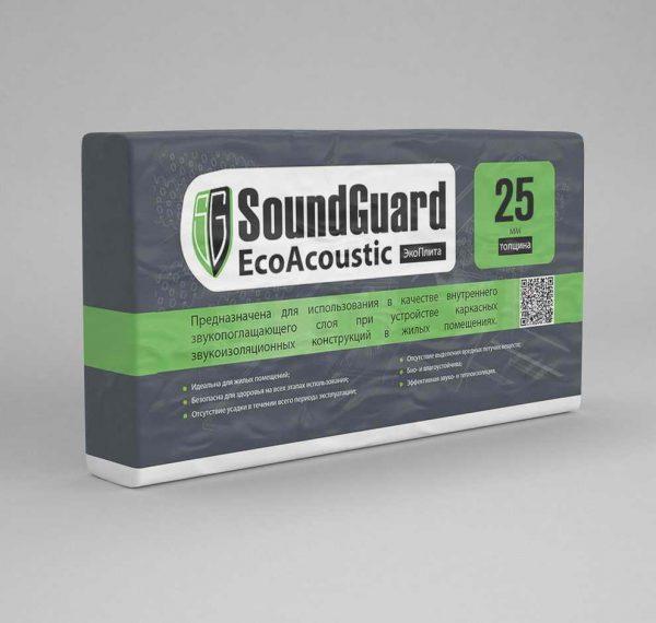 ЭкоВата SoundGuard EcoAcoustic 25 mm